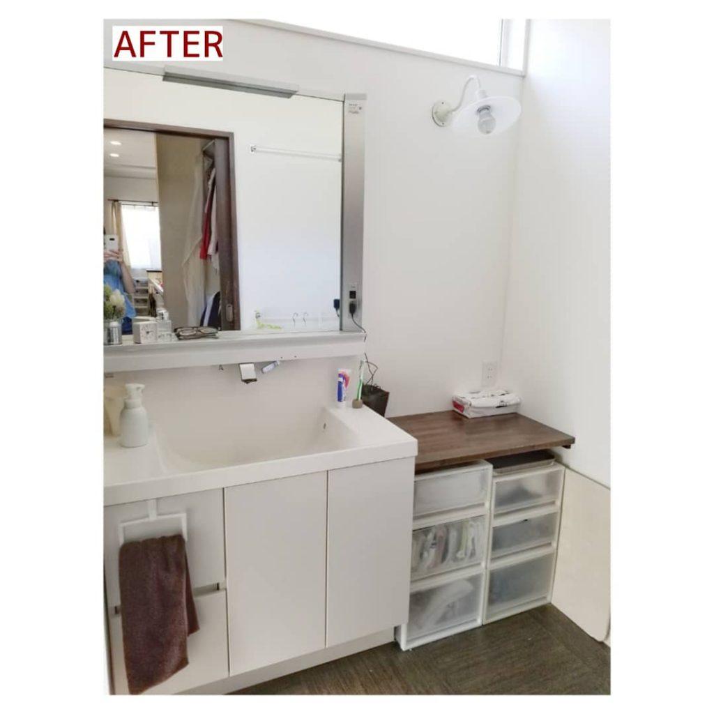 洗面所収納 施工事例