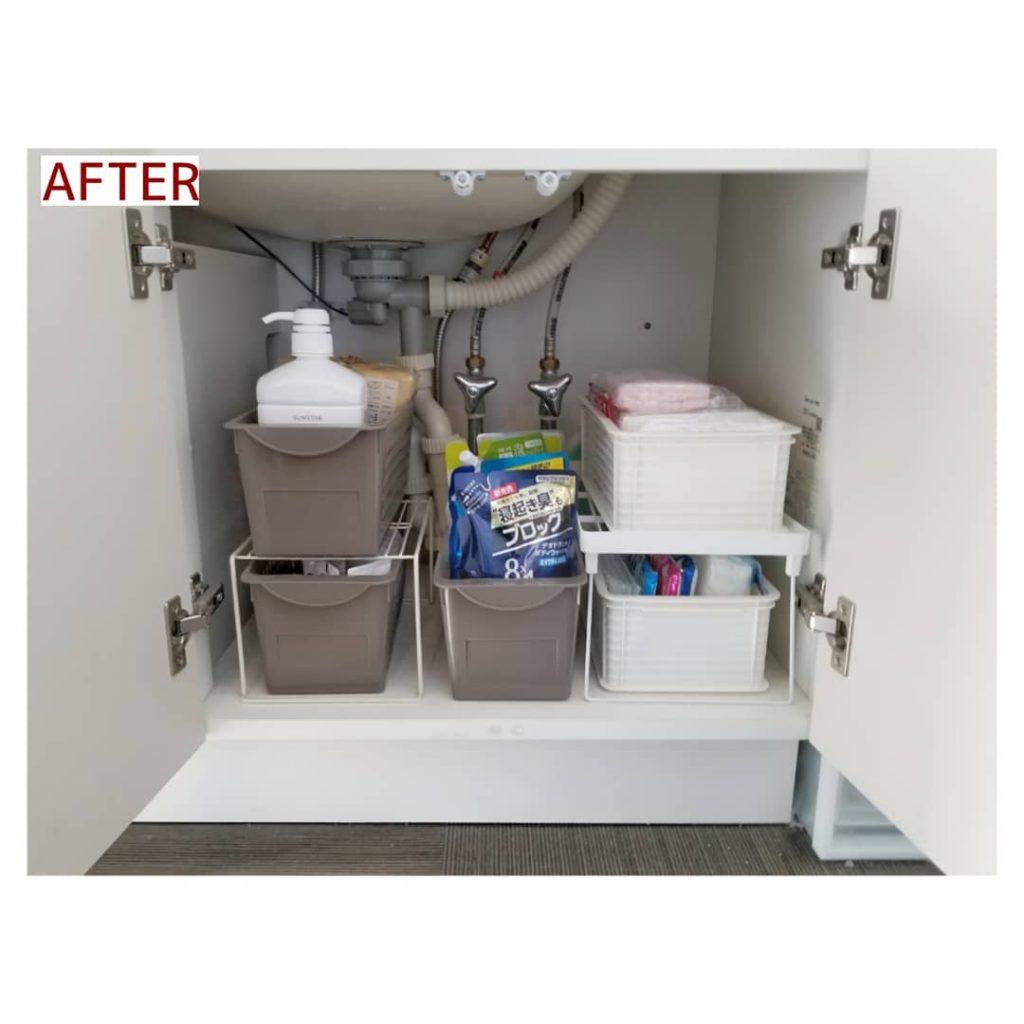 洗面下収納 施工事例