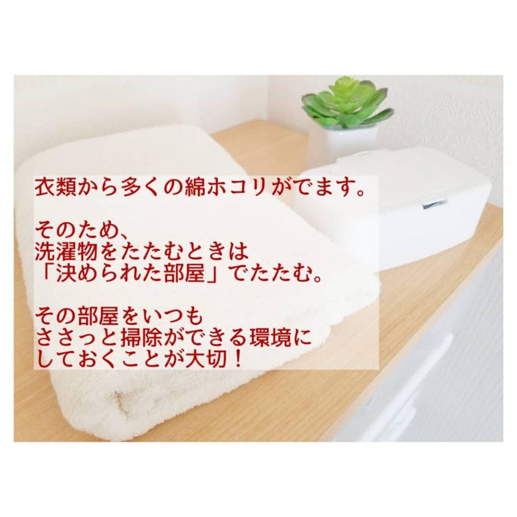 洗濯物 ホコリ
